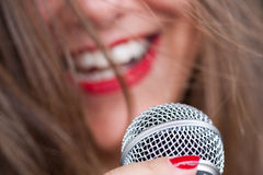 The Singer Royalty Free Stock Photography