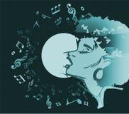 Singer woman singing music jazz or blues Royalty Free Stock Image