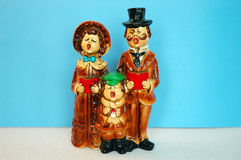 Singers. Vintage Christmas Carolers royalty free stock image