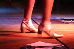 Singers feet. Dynamic and power often is in small details: image expressing dynamic and power Stock Photo