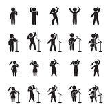 Singers icon set. People icon set of music performers. Vector. Eps10 Stock Image