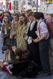 Singers and musicians at the Fringe Festival, Edinburgh, Scotland. Royalty Free Stock Photo