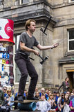 Singers and musicians at the Fringe Festival, Edinburgh, Scotland. Singers and musicians performing in the street at the Fringe Festival, Edinburgh, Scotland Stock Image