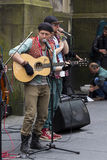 Singers and musicians at the Fringe Festival, Edinburgh, Scotland. Stock Photo