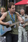 Singers and musicians at the Fringe Festival, Edinburgh, Scotland. Singers and musicians performing in the street at the Fringe Festival, Edinburgh, Scotland Stock Photo