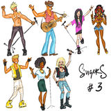 Singers - part 3. Hand drawn collection Stock Image