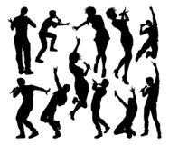 Singers Pop Country Rock Hiphop Star Silhouettes. A set of singers pop, country music, rock stars and hiphop rapper artist vocalists in high quality detailed vector illustration