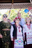 Singers at Russia Day Auckland Stock Photos