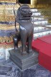 Singha或狮子雕象在曼谷玉佛寺在曼谷,泰国,亚洲 库存照片