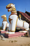 Singha στη θέση Chedi Buddhakhaya σε κοντινό Wat W Στοκ Εικόνα