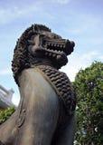 Singha, animal antique thaïlandais, statue Images libres de droits