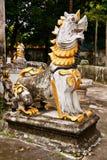 Singha di stile del Myanmar della statua Immagini Stock Libere da Diritti