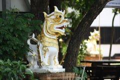Singha di un tempio Fotografie Stock