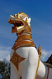 Singha, Lion Statue in front of mon temple Royalty Free Stock Photography
