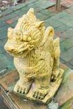 Singha, Lion Statue am Tempel in Nord-Thailand Lizenzfreie Stockfotografie
