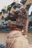 Singha or lion statue at Wat Pa Kung Temple in Si Somdet district, Roi Et, northeastern Thailand Stock Photography