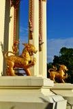 Singha: Opiekunu lwa statua Obraz Stock