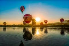 Singha Park International Balloon Festival 2018 in Chiang Rai,Thailand. Stock Image