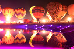 Singha-Park-internationale Ballon-Fiesta, Thailand Lizenzfreie Stockbilder