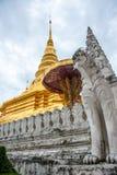 Singha statua Chaehaeng i Phrathat Fotografia Royalty Free