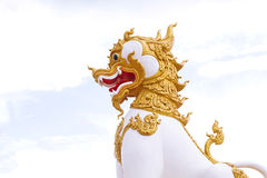 Singha statue Royalty Free Stock Photo