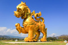 Singha statue at Singha Park,Mueang Chiang Rai District,Chiang Rai,Northern Thailand. The place for farm's tour, scenery, natural environment and adventures Stock Photography