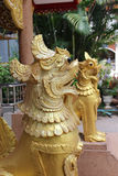 Singha statue. Royalty Free Stock Images