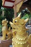 Singha statue. Stock Photo