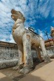 Singha statue at Wat Prathat Lampang Luang Temple, Lampang, Thailand Royalty Free Stock Image