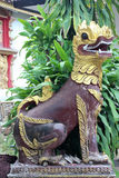 Singha statue. Royalty Free Stock Photography