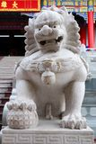 Singha staty i kinesiskt tempel Arkivbilder
