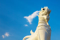 Singha thai style lion. Statue in temple Thailand Stock Photography