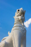 Singha thai style lion. Statue in temple Thailand Royalty Free Stock Images