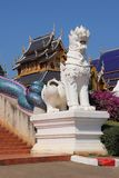 Singha at Thailand temple royalty free stock photography