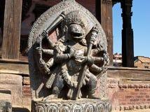Singhini skulptur - en lejoninnagudinna i Bhaktapur Fotografering för Bildbyråer