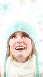 Singin nella neve Immagini Stock