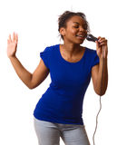 Singing. Royalty Free Stock Images