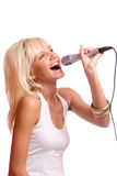 singing Στοκ φωτογραφίες με δικαίωμα ελεύθερης χρήσης