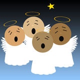 Singing angels Royalty Free Stock Photos