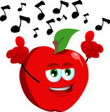 Singing apple Royalty Free Stock Photos