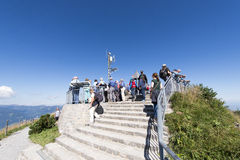 Singing atop the Stanserhorn Stock Images