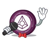 Singing Augur coin mascot cartoon. Vector illustration Royalty Free Stock Image