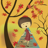 Singing in autumn Stock Image