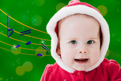 Singing baby stock photos