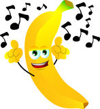 Singing banana Royalty Free Stock Photos