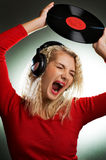 Singing beautiful woman Stock Photo