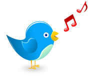 Singing bird. Vector illustration representing a cute blue bird singing Stock Image