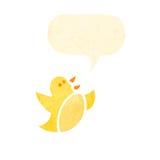 Singing bird cartoon Royalty Free Stock Images