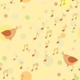 Singing bird samless pattern Stock Photos