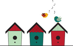 Singing Birdhouses Stock Photos